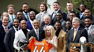 White House Tours Obama by Denver Broncos Visit White House As Super Bowl Champions
