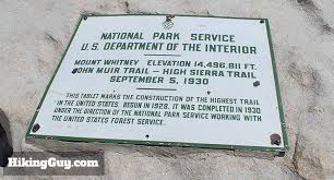 Interior Signs Trail Mt Whitney Hike Hikingguy Com