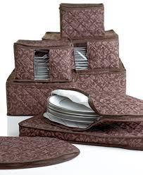 homewear china storage set 8 chocolate hudson damask