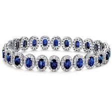 sapphire bracelet with diamonds images Blue nile oval sapphire and pav diamond bracelet in 18k whi out=j