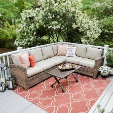 Wicker Sectional Patio Furniture - outdoor sectionals outdoor lounge furniture the home depot