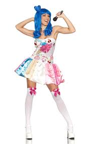 Candy Costumes Halloween Katy Perry Candy Cupcake California Girls Costume Dress