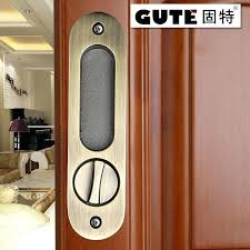 sliding wood cabinet door lock wood door bathroom modern bathroom with solid wood door sliding wood