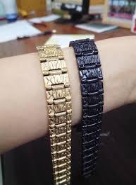 magnetic bracelet gold plated images Wollet jewelry 14mm men bio magnetic bracelet gold black plated jpg