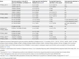 a retrospective study on genetic heterogeneity within treponema