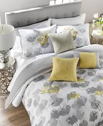 Grey And Yellow Comforters Posy Reversible 7 Pc Comforter Sets Bed In A Bag Bed U0026 Bath