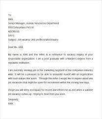 general inquiry cover letter letter of interest or inquiry 4