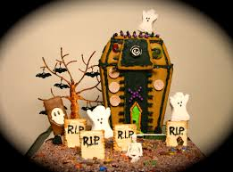 Halloween Haunted House Cake Halloween Fun In A Spooky Rice Krispie Treat Graveyard