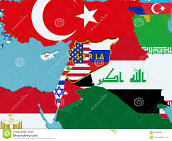 Map Of Syria Conflict by Map Of Syria Divided With Usa And Russia Flags With Surrounding
