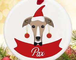 greyhound ornament etsy