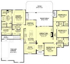 Acadian Floor Plans European Style House Plan 4 Beds 2 5 Baths 2506 Sq Ft Plan 430
