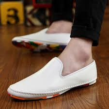 Comfortable Moccasins Aliexpress Com Buy Fashion Men Loafers Leather Comfortable
