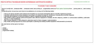 optics letters template optics technician cover letter sample
