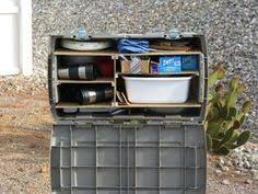 Portable Camping Kitchen Organizer - the camping kitchen box make using corrugated plastic snaps and