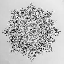sun and moon mandala for rosette mandala tattoos