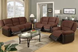 furniture modern living room with brown sofa set come with brown