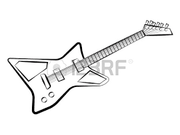 electric guitar sketch royalty free cliparts vectors and stock