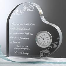 personalized mothers day gifts dear personalized heart clock s day gift