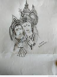 pencil sketch of radha krishna ji desipainters com