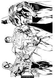 superheroes spiderman superman batman coloring printable