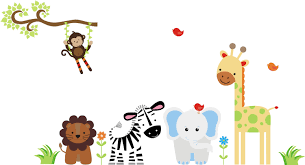 baby shower jungle animals clipart 74 cartoon baby jungle animals border clipart
