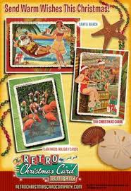 personalized and boxed tropical christmas cards sea shells on