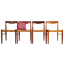 rosewood dining chairs by h w klein for bramin set of 4 for sale
