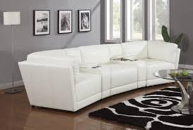 Curved Leather Sofas by Living Room Comfortable White Sectional Sofa For Elegant Living