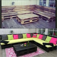 backyard creations patio furniture from unused wooden pallet