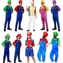 Mario Luigi Halloween Costumes Couples Super Mario Costume Men Shopping Largest
