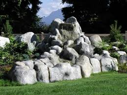 concrete artificial rocks make a dramatic yet economical landscape
