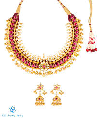 small gold necklace sets images The rashmika silver tussi necklace gold necklace set designs jpg