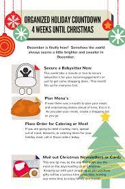 organized holiday countdown 4 weeks until christmas u2013 more in 24