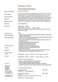 Sample Resume For Hotel Management Fresher by Procurement Manager Cv Template Job Description Sample Resume