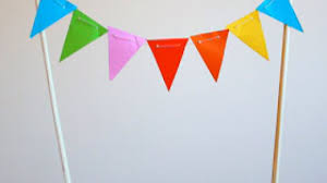 cake banner topper how to make a mini paper bunting cake topper diy crafts tutorial