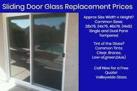 Patio Door Glass Replacement Cost Sliding Patio Door Glass Replacement Valleywide Glass