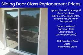 Replacement Patio Door Glass Sliding Patio Door Glass Replacement Valleywide Glass
