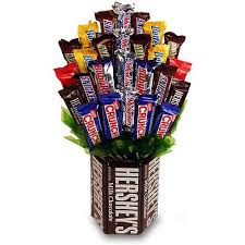 candy bar bouquet in bloom chocolate indulgence hershey base and candy bar