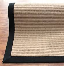 Jute Rug District17 Natura Jute Rug With Black Border Bordered Rugs