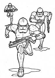 clone troopers pursuing star wars coloring download