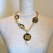 pearl monogram necklace everything about this monogram tortoise and pearl necklace