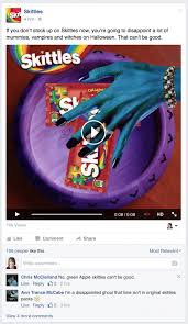 which candy brand is killing it on facebook this halloween