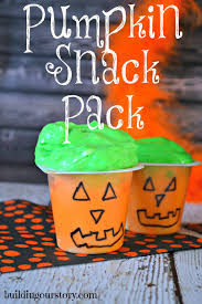 fun pumpkin face snack pack pudding cup for halloween building