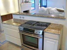 kitchen island with stove stove covers for counter space concrete countertops the