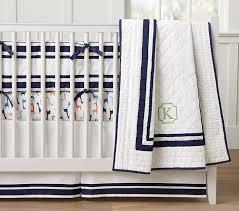 Navy Nursery Bedding Organic Harper Giraffe Baby Bedding Sets Pottery Barn Kids