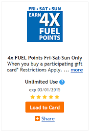 who buys gift cards back 4x fuel points when you buy gift cards is back kroger krazy