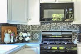 kitchen backsplash stick on diy high end patterned tile backsplash look with peel stick tile