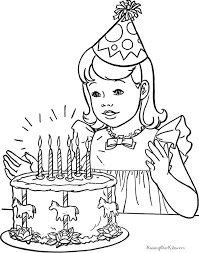 coloring page birthday color page coloring birthday color page