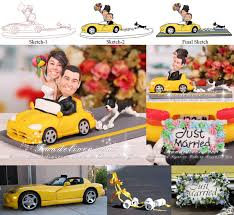 car wedding cake toppers in car wedding cake topper