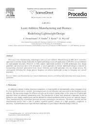 krã mel design laser additive manufacturing and bionics redefining lightweight